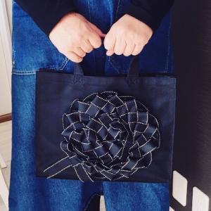 編むリボンで飾るトートバッグ単発レッスン