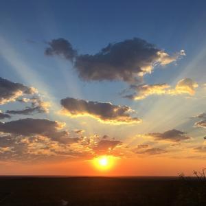 ナミビアのサヴァンナの美しい朝焼けと朝ごはん@リトルオンガヴァ