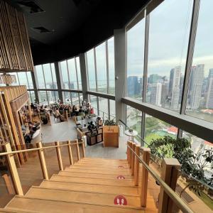 シンガポールの絶景と共にサタデーブランチをスイソテルのSKAIで