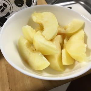 ダイエット42日目  桃の剥き方