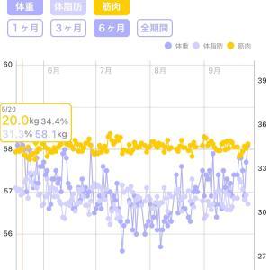 214日目 58.1キロ 30.6% 5月に逆戻り!!