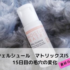 敏感肌&乾燥肌に!シェルシュール マトリックスIS 15日目の毛穴の変化【最終日】