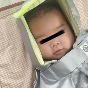 【ママ防災】0歳から使える防災頭巾の使用感