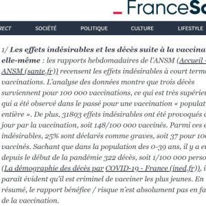 フランスのワクチン接種とコロナ死