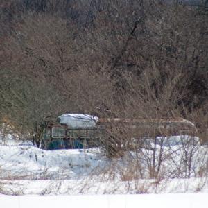 深川市郊外で新たに見つけた2台の廃バス?