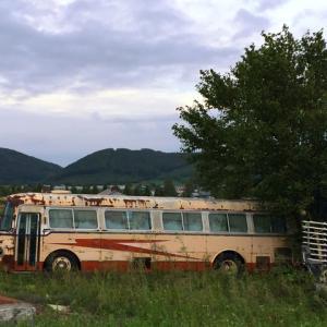 廃バス発見いすゞオバQ&日産デ+富士重5Eボディin中富良野