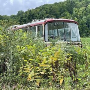 旭川から東方面の三菱ふそう中型廃バスMR620?