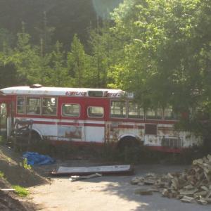 中空知の某市町村で見つけたいすゞ廃バス中央バス旧塗装