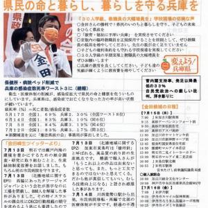 【兵庫県】16日「金田峰生候補」が尼崎入り、中央三和商店街をモモタロウそして個人演説会