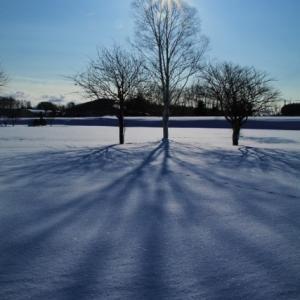 雪上にアート