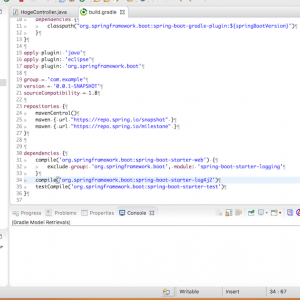 Springでlog4j2(Gradleでプロジェクト作成)