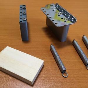フェンダーJAPANのST54-LSをよりクラプトンモデルに近くする。木片で固定とか・・