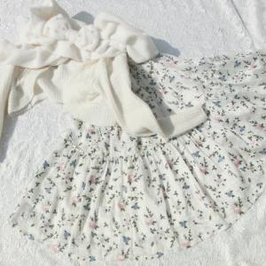 それはそれは美しいRose刺繍づくしのティアードスカート☆彡