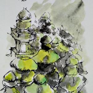 五輪塔を描く