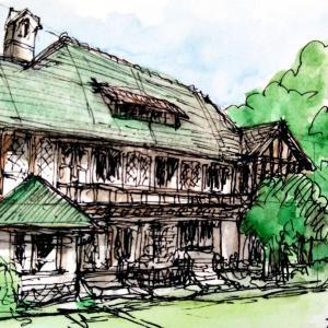 旧華頂宮邸を描く
