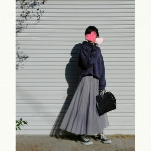 今日のコーデ★パーカー×チュールスカートコーデとコストコお買い得品