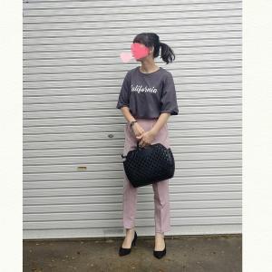 今日のコーデ☆大人が着るピンクパンツコーデ
