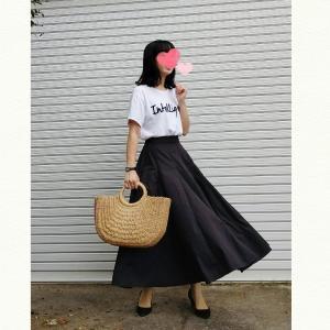 今日のコーデ♡お気に入りのcocaフレアスカート!