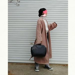 今日のコーデ♡モノトーン×ピンクの好きな配色コーデ