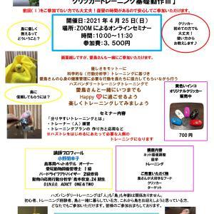 【複製】ハズトレ実践クラス【ハズトレに必要なトレーナー(人)のクリッカートレーニング基礎動作Ⅱ】