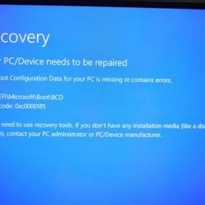 ブルー画面Windows10再セットアップ!