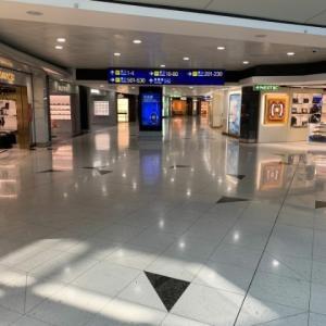 ガラガラの香港空港