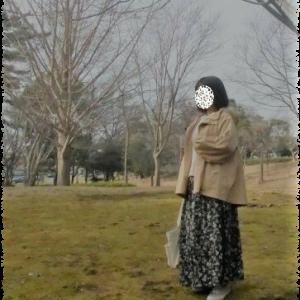 着画☆ニコアンドのマンパと花柄スカートで春コーデ☆気になるデニムのシャツワンピ