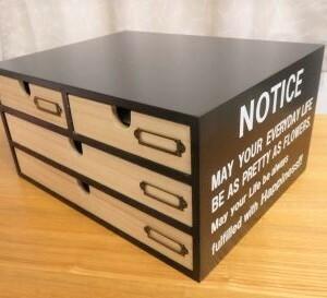 届いた物☆レターケース☆手紙や書類の整理☆噴水フルーツポンチ