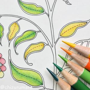 リベンジ塗り⑨ 葉っぱに大苦戦!色を何度も重ねるのは難しい楽しい