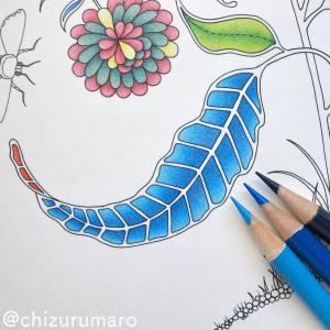 リベンジ塗り12 青系の色鉛筆3色でグラデーションを作ってみました