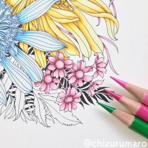 (ピンク色編)補色で影を作ってお花を塗ってみた(レイラ・デュリーさん/FLORIBUNDA)