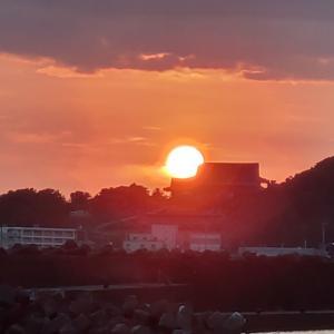 やっぱり海で見る夕焼けはキレイ♡