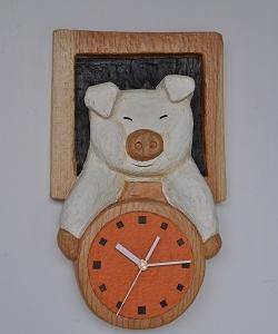 ブタさん時計・・・