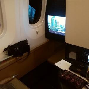 エティハド航空ビジネスでアブダビ
