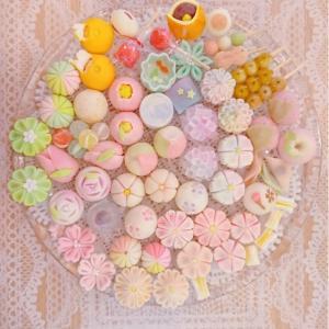 可愛い和菓子を作ってきました!