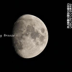 満ち行く月の姿・・・