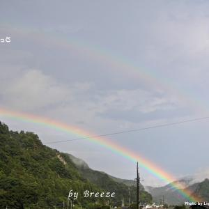 虹が見えた日・・・