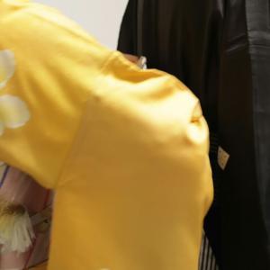 【七五三】自分で着物を着て、パパと子供にも着物を着せてあげることができました