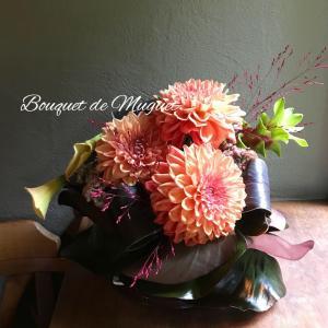 オータムカラーが美しい 葉の器&10月レッスンのご案内