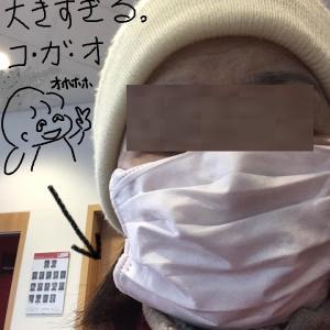 ついにマスクデビュー