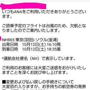 【ANA】搭乗予定便が欠航になりました~(>_<)