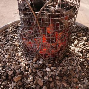 冷凍庫の鮎,アマゴ,イワナを塩焼きに