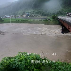 どんだけ水位が上がるの馬瀬川上流