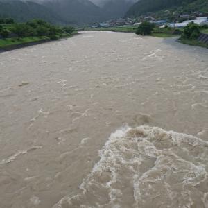 又馬瀬川上流は増水して渓流釣りも断念