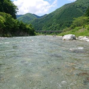 馬瀬川上流で今期の鮎釣りで入川した場所