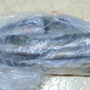 冷凍庫のチビ鮎をフライと天ぷらに、