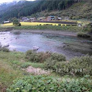 馬瀬川上流の鮎釣りは今回の増水で終わったかも、