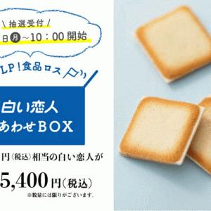 【再販売】石屋製菓の「白い恋人」がお得にネット販売!今回は抽選制。
