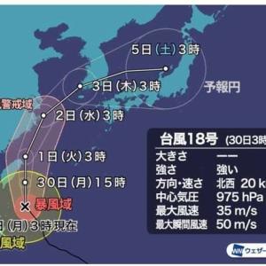 宮古島行キャンセル 台風18号