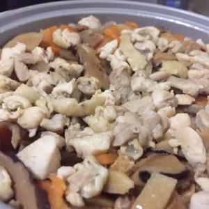 鶏五目炊込み御飯を作ってみました!